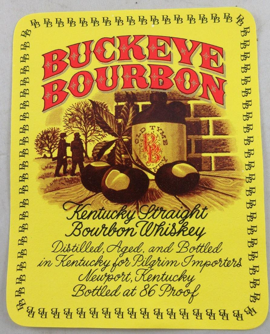 """Large Buckeye Bourbon Kentucky Whiskey Label 4-1/2"""""""