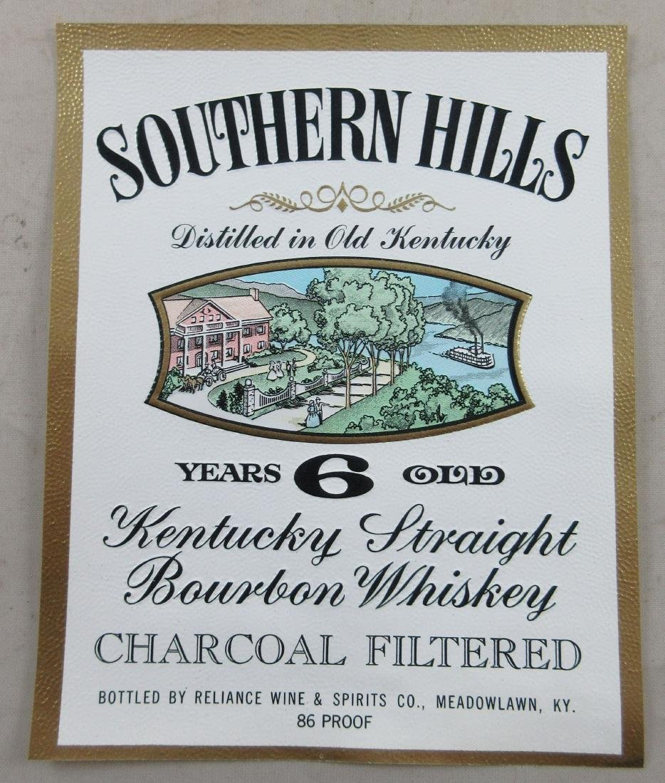 Southern Hills Kentucky Straight Bourbon Whiskey label.