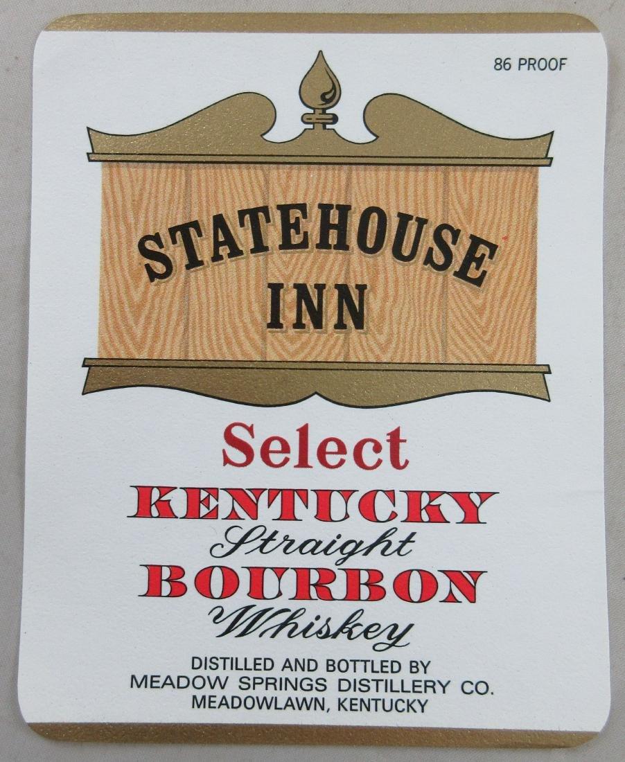 """Statehouse Inn Kentucky Bourbon Whiskey Label. 4-1/2"""""""
