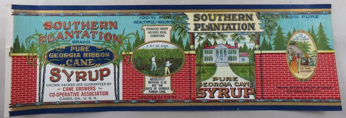 Huge Southern Plantation Pure Georgia Cane Syrup Pail