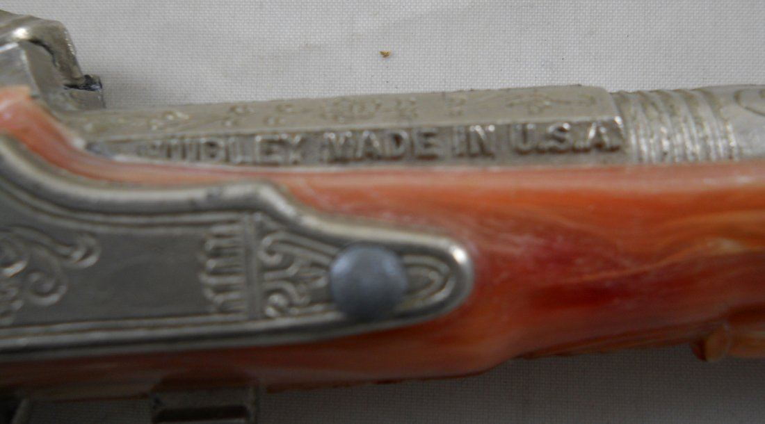 """HUBLEY """"Flintlock Jr."""" Toy Cap Gun - 3"""