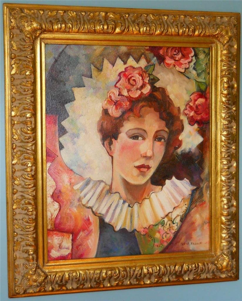 """Cecile Broz Painting. Oil on Canvas. 27"""" x 23"""" Frame."""
