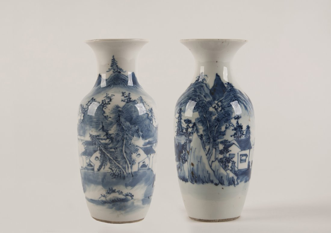 Chinese porcelain set of 2 small vases antique chinese porcelain set of 2 small vases floridaeventfo Choice Image