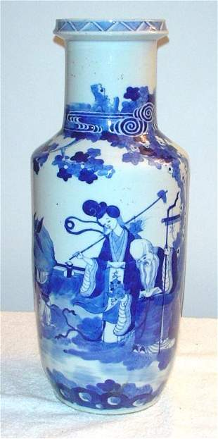 Blue and White Vase with Court Beauty, Philosophe