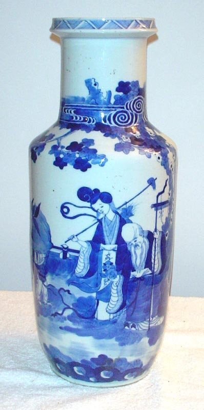 1008: Blue and White Vase with Court Beauty, Philosophe