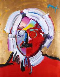 Peter Max - 'Andy with Mustache'
