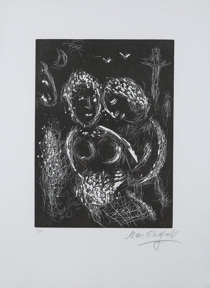 """Marc Chagall """"Il y a la-bas aux aguets une croix"""""""