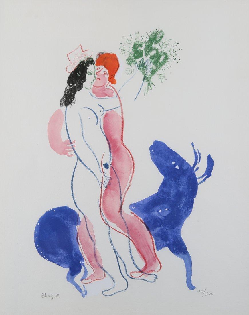 Marc Chagall - 'Le Bete Blue', Couleur Amour