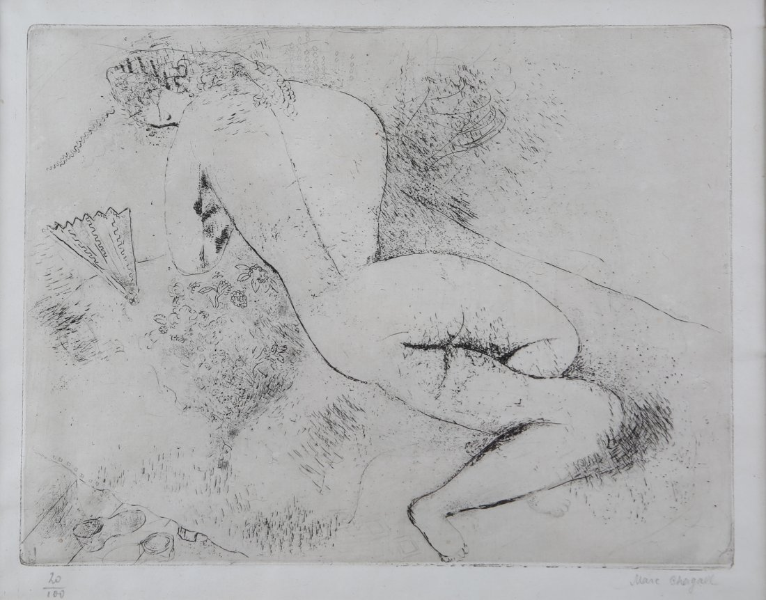 Marc Chagall - Nude with a Fan