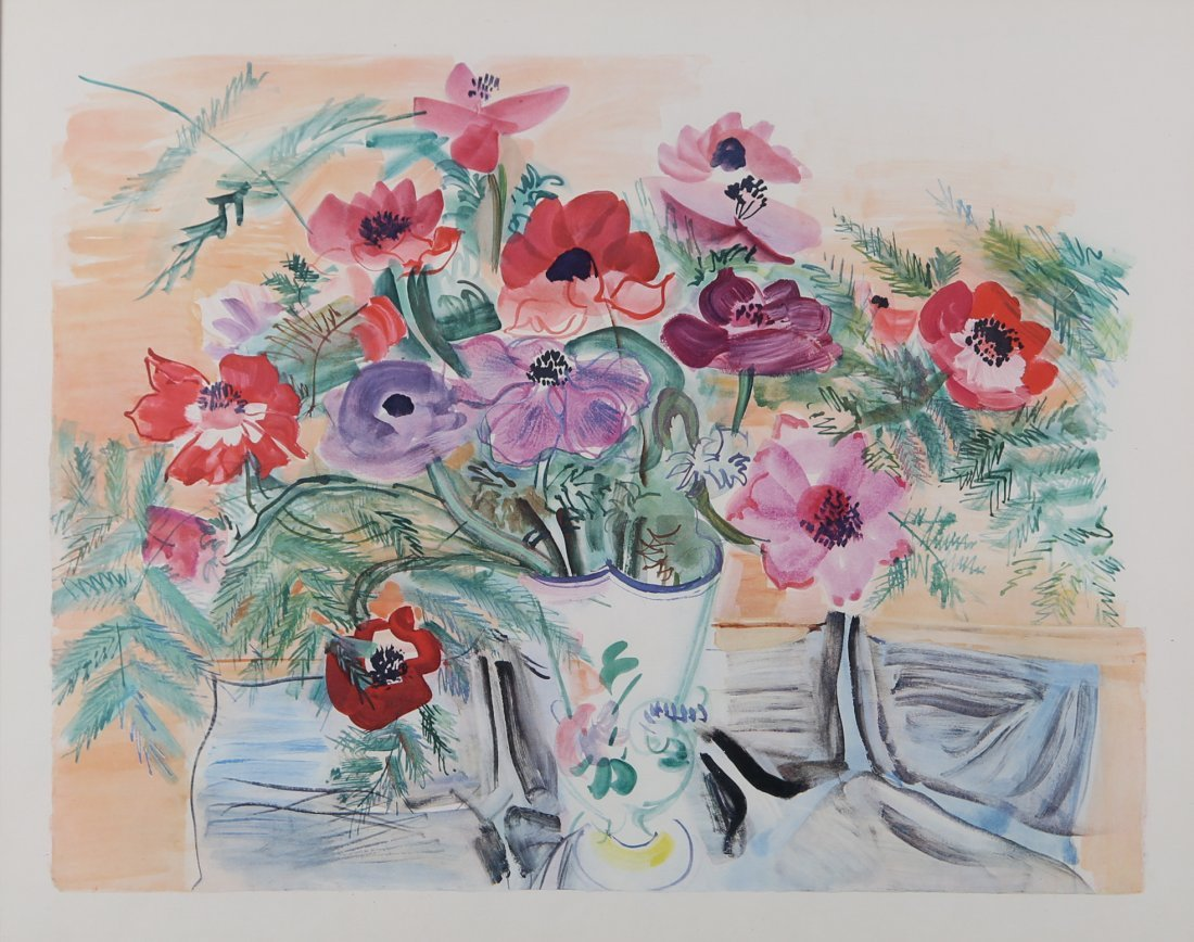 Jean Dufy - 'Anemones'
