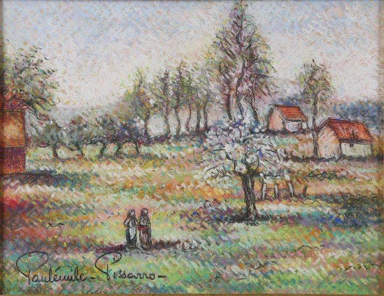 Paul-Émile Pissarro - 'Les Deux Amies en Conversation'