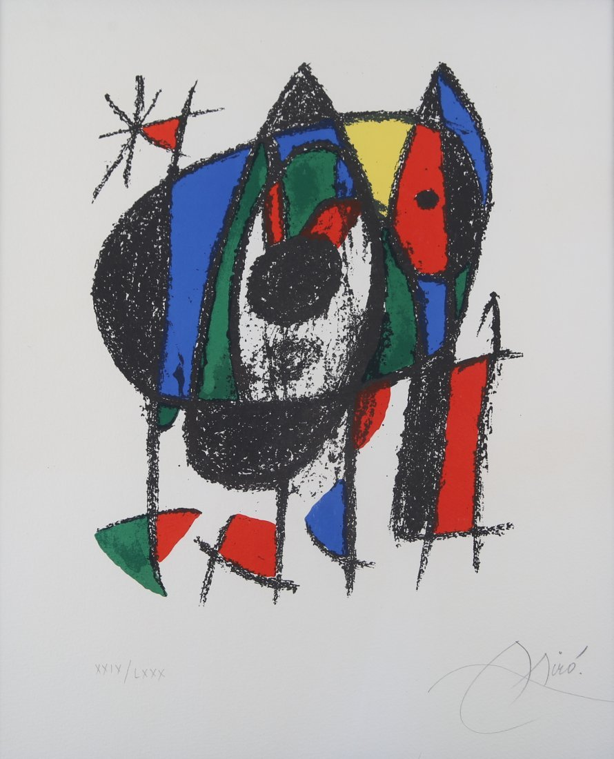 Joan Miro - Lithograph 1041