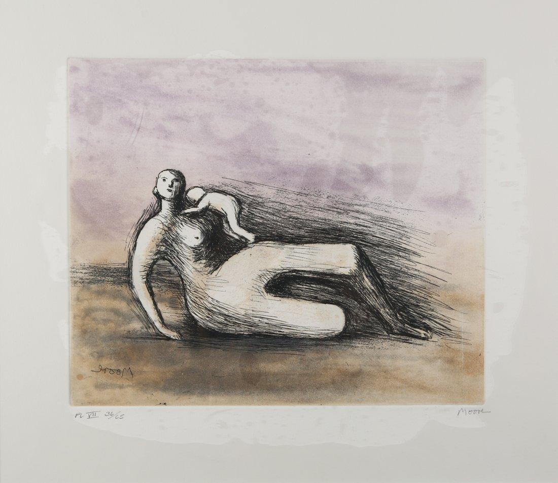 Henry Moore - Mother & Child VII.
