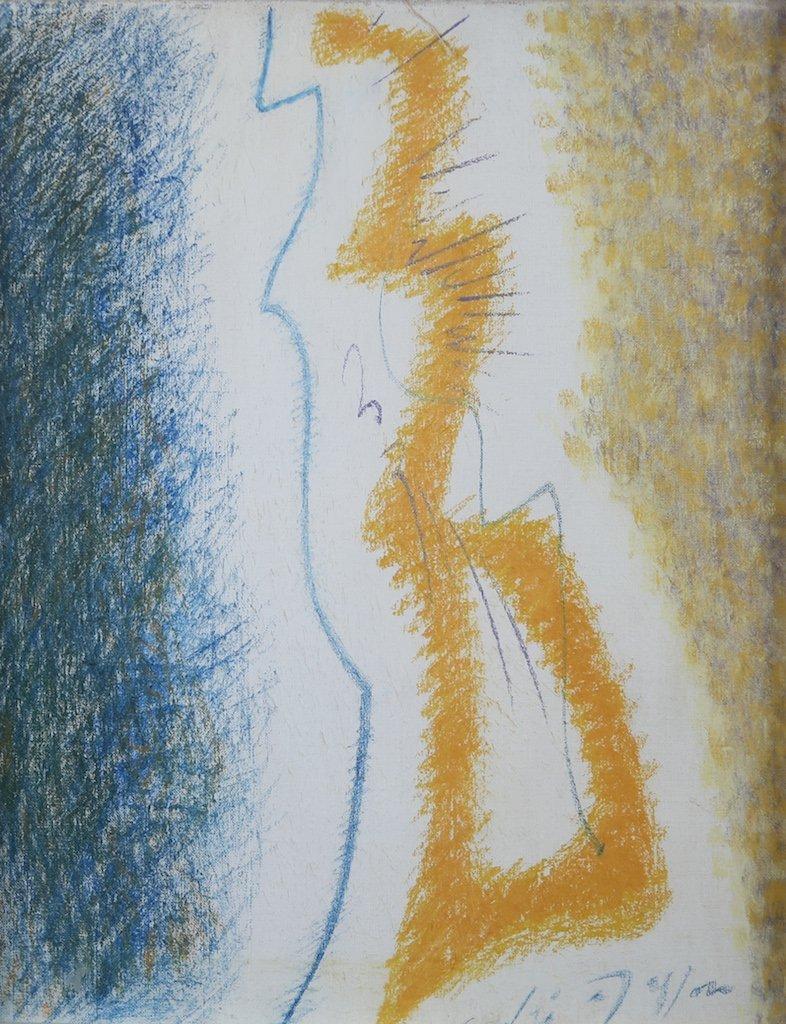 "Andre Masson Original Pastel - ""Archange"" - 1960"
