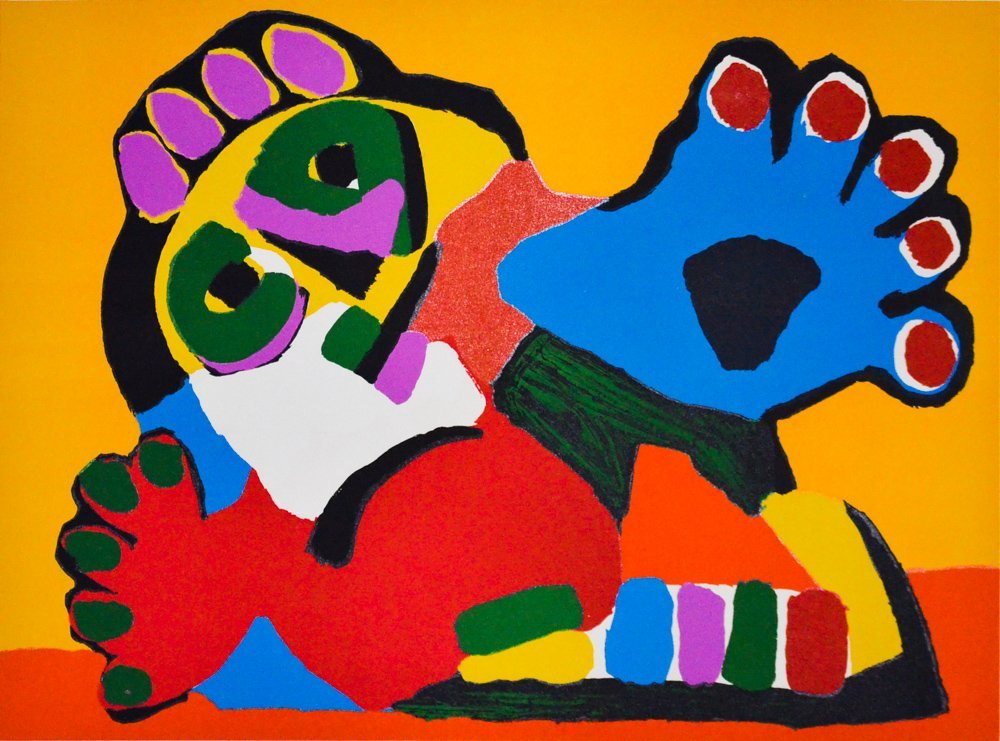 Appel, Karel - Boy with Blue Hands