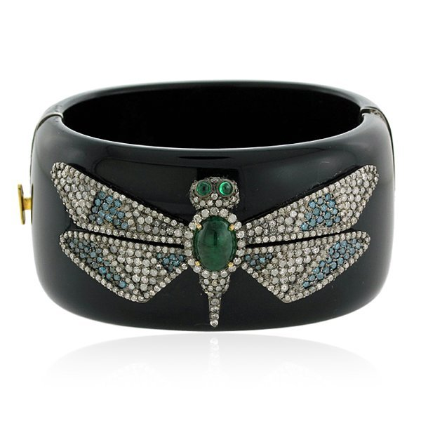 Emerald Dragonfly Baketlite Bangle