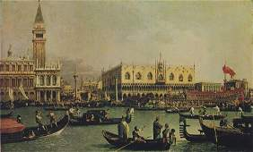 Pair of Canaletto's Venice; Bacino and Regatta