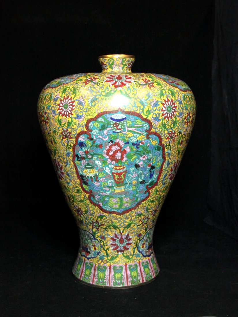 Massive Ming Dynasty Xuande Cloisonné Meiping