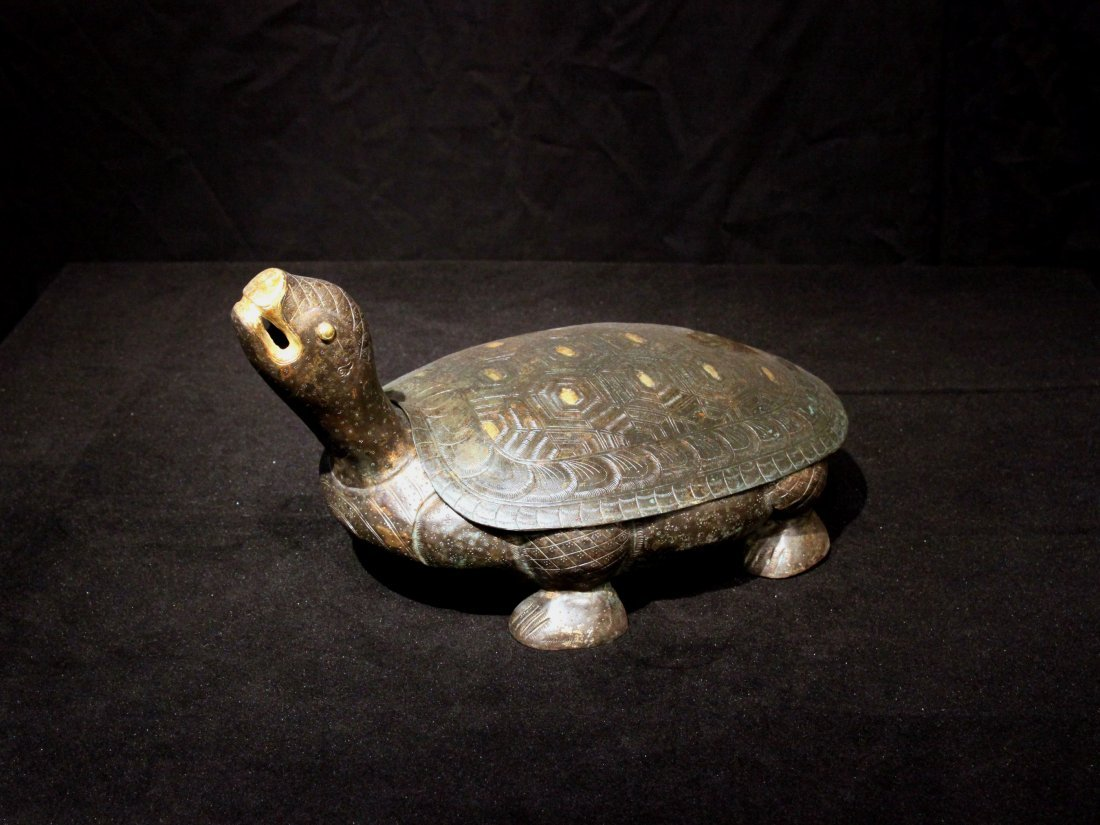 Magnificent Tang Dynasty Gilt Silver Turtle Figures