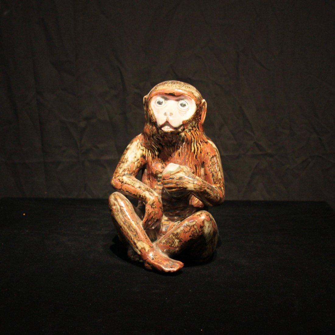 Rare Republic Period Jingdezhen Porcelain Monkey
