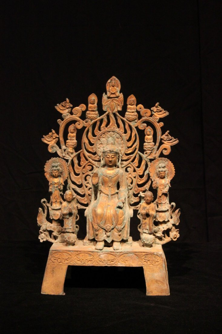 Exquisite Tang Dynasty Gilt-Bronze Guanyin Figure