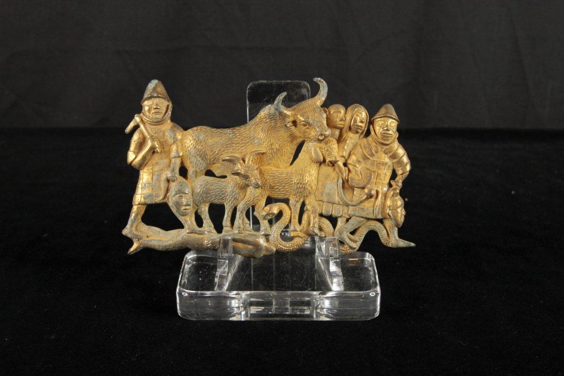 Tang Dynasty Gilt-Bronze Belt Buckle