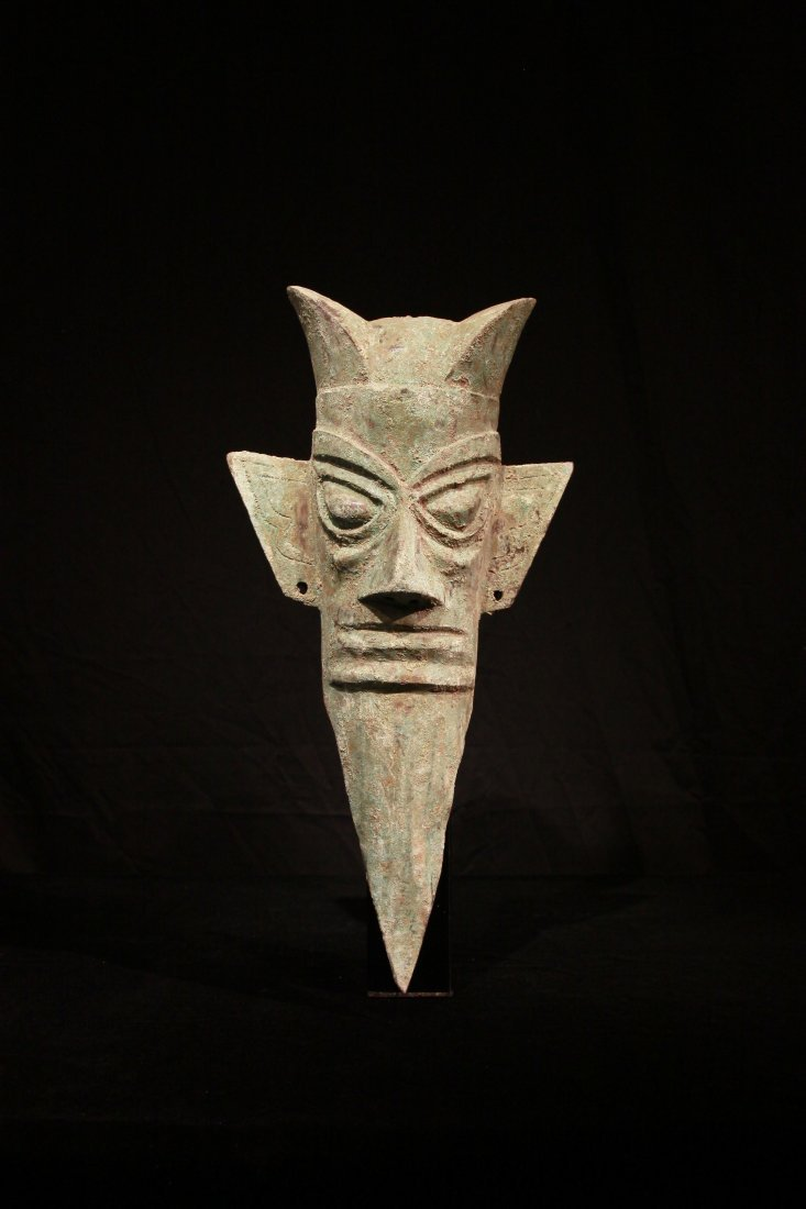 Shang Dynasty Sanxingdui Bronze Head