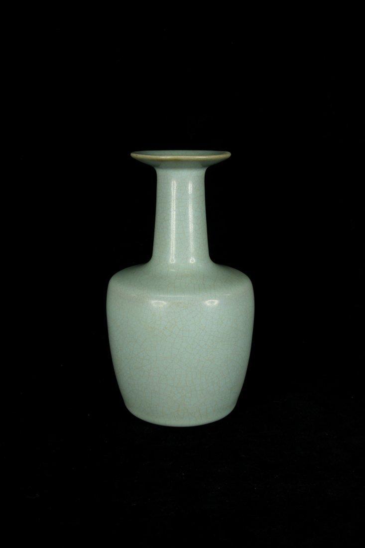 Rare Song Dynasty Ru Yao Celadon Mallet Shaped Vase