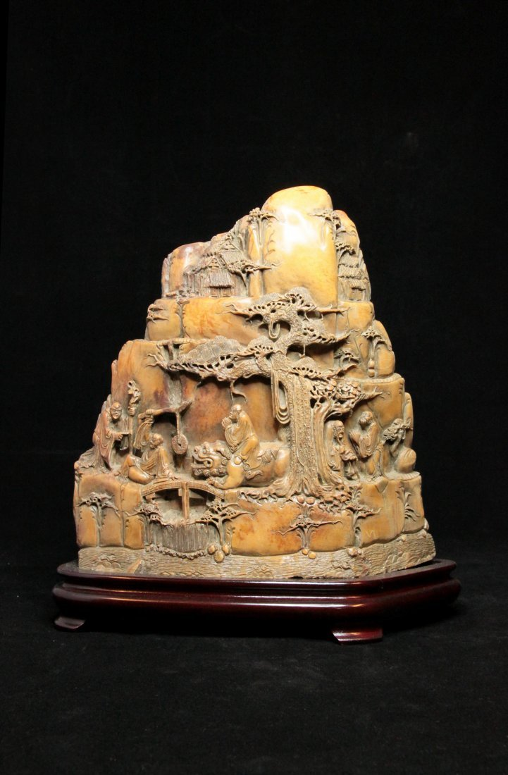 Magnificent Qing Dynasty Shoushan Stone with Luohan