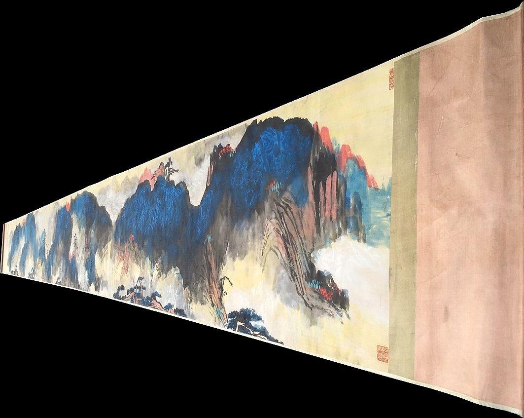 Famous Chinese Artist Liu Haisu Long Scroll Painting