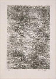 60: Anna Ticho (1894-1980) Original S&N LITHOGRAPH