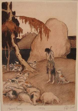 Abel Pann (1883-1963) Original S&N LITHOGRAPH