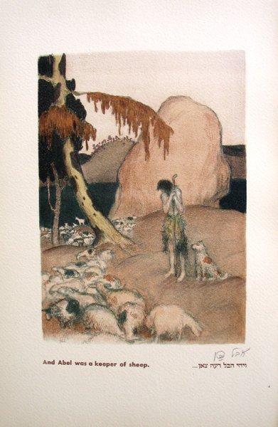 1503: Abel Pann Original Signed No. Litho Genesis