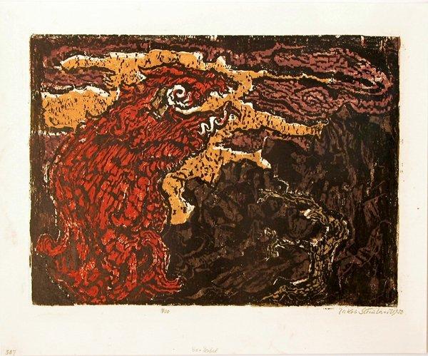 1506: Jacob Steinhardt Original Signed No. Woodcut