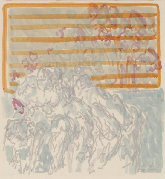 1508: David Ben-Shaul Original Gouache Painting