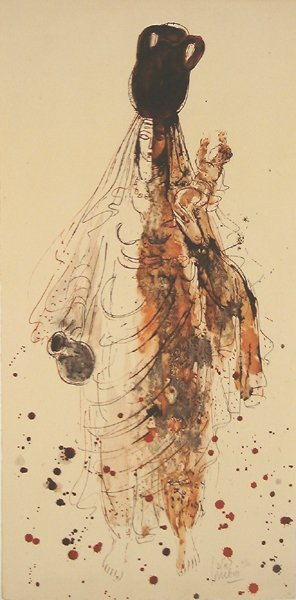 2506: Reuven Rubin Original Signed No. Lithograph