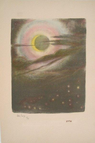2511: Abel Pann Original Signed No. Litho Genesis