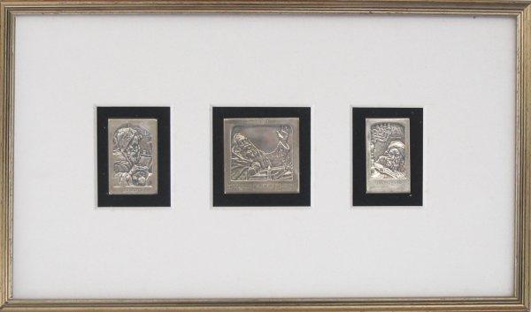 3500: B.Schatz Original Bezalel Silver Plaques Judaica