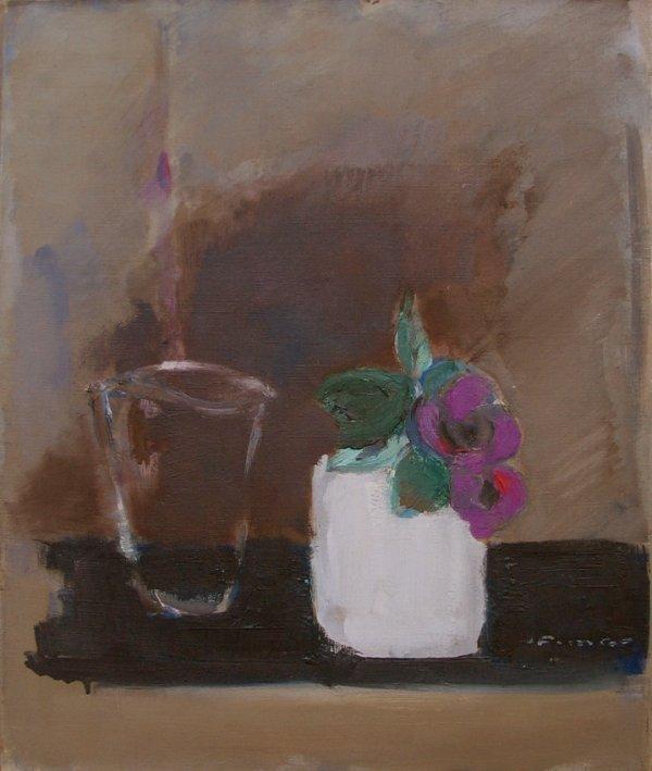 3503: Fima Original Oil Painting Israeli/Chinese Artist