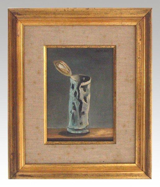 3509: Yosl Bergner Original Oil Painting