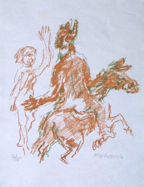 3510: O. Kokoschka Original Signed No. Lithograph