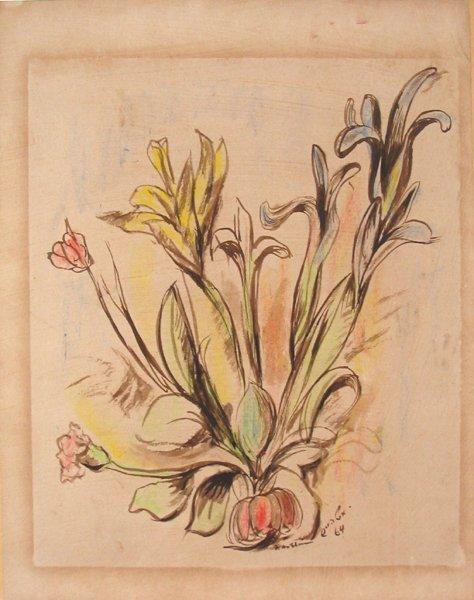 3515: Isidor Ascheim Original Watercolor Drawing