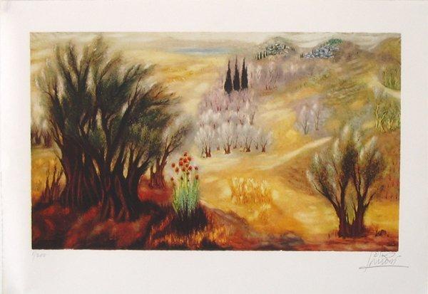 3518: Reuven Rubin Original Signed No. Lithograph