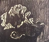 3608: Jacob Steinhardt Original Woodcut Jewish Art