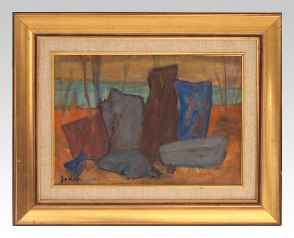 3615: Marcel Janco Original OIl Painting