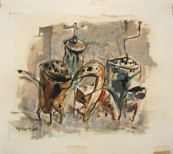 4500: Y.Bergner OriginalOil Painting Israeli/Australian