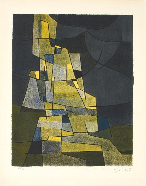 4502: Gustave Singier Original Signed No. Lithograph