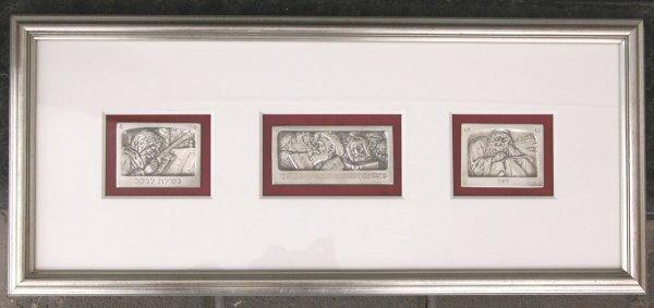 4504: B.Schatz Original Bezalel Silver Plaques Judaica