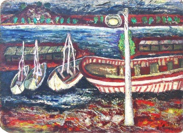 4508: Angela Seliktar Original Gouache Painting