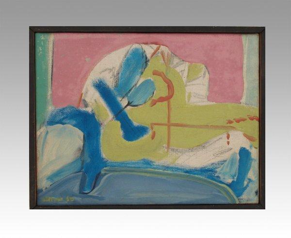 4511: Uri Stettner Original Oil Painting Israeli Art